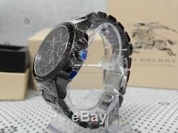 100% Brand New Authentic Men's Burberry Black Ceramic Wristwatch Chrono BU9081