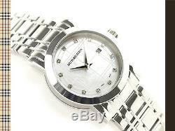 100% Brand New Burberry Women's BU1370 Heritage Stainless Steel Bracelet Watch