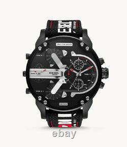 2021 Brand New Mr. Daddy 2.0 Chronograph black nylon and silicone watch DZ7433