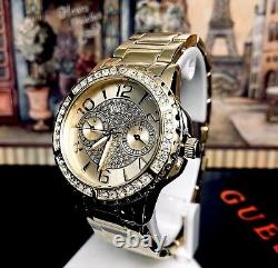 AUTHENTIC GUESS LADIES' SASSY WATCH GOLD TONE RRP$379 0705L2 Brand New