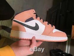 Air Jordan 1 Mid Pink Quartz 555112-603 Size 5.5Y Brand New