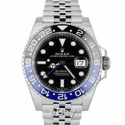 BRAND NEW 2019 Rolex GMT Master II Batman Black Blue SS Ceramic 126710 BLNR B+P