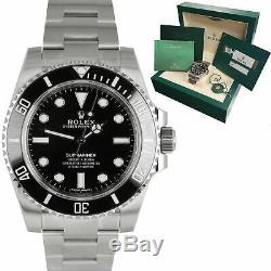 BRAND NEW 2019 Rolex Submariner No-Date 114060 Stainless 40mm Black Watch