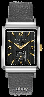 BRAND NEW Bulova Men's Frank Sinatra My Way Gray Leather Band Watch 98A261