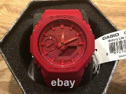 -BRAND NEW- Casio G-Shock Red Analog / Digital Watch GA2100-4A FULL SET