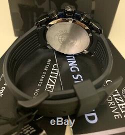 BRAND NEW Citizen Men's Eco-Drive Chronograph Blue Dial Watch CA4155-12L