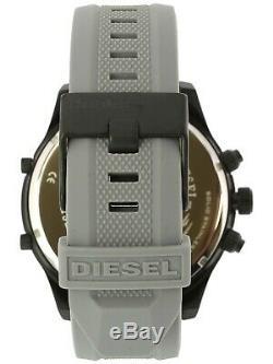BRAND NEW Diesel DZ7416 Boltdown Grey Silicone Chronograph 56mm Men's Watch