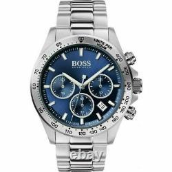 BRAND NEW HUGO BOSS Men's Hero Sport Lux Blue Silver Watch HB1513755