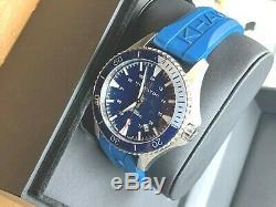 BRAND NEW Hamilton Men Khaki Field Blue Dial Rubber Band Watch H82345341