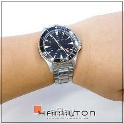 BRAND NEW Hamilton Men's KHAKI NAVY SCUBA AUTOMATIC Black Dial Watch H82335131