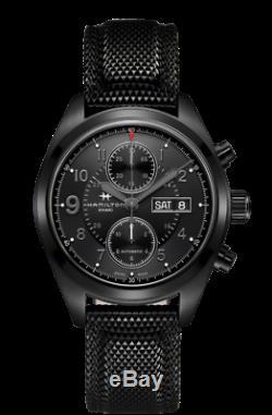 BRAND NEW Hamilton Men's Khaki Field Black Dial Jack Ryan Watch H71626735