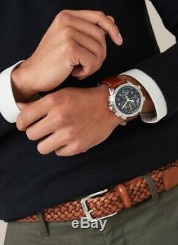BRAND NEW Hamilton Men's Khaki X-Wind GMT Chrono Quartz Black Watch H77912535