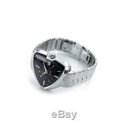 BRAND NEW Hamilton Men's Ventura Elvis80 Black Dail Steel Band Watch H24555131