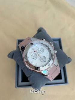 BRAND NEW! MICHELE Jelly Bean Tahitian Dusty Rose Pink Silver Watch MWW12F000089