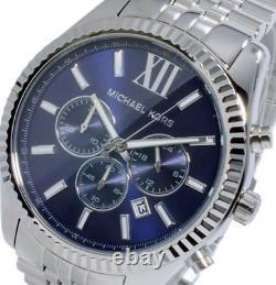 BRAND NEW Michael Kors MK8280 Lexington Chronograph Navy Dial Mens Watch