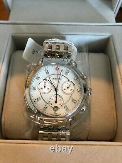 BRAND NEW Michele Stainless-Steel Diamond Dial Watch