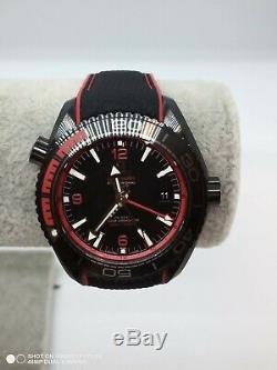 BRAND NEW Omega Seamaster Planet Ocean Deep Black 215.92.46.22.01.003 Black Red