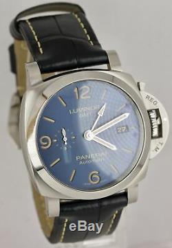 BRAND NEW Panerai Luminor 1950 GMT Blue PAM 1033 Stainless 44mm Date PAM01033