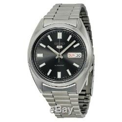 BRAND NEW Seiko 5 Automatic Black Dial Stainless Steel Men's Watch SNXS79