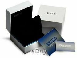 BRAND NEW Seiko Men's Presage Auto White Dial Blue Leather Band Watch SRPD05