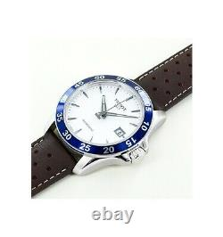 BRAND NEW Tissot Men's Automatic Silver Dial Brown Leather Watch T106407160310