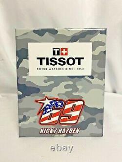BRAND NEW Tissot Men's Nicky Hayden Chronograph Blue Band Watch T0924172705703