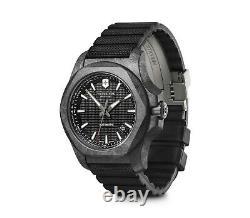 BRAND NEW Victorinox Swiss Army Men's INOX Carbon Automatic Black Watch 241866
