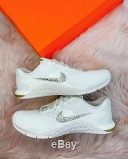 BRAND NEW Womens Nike Metcon encrusted with Genuine Swarovski Crystals