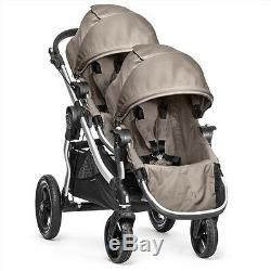 Baby Jogger 2016 City Select Double Stroller Quartz (Silver Frame) -Brand New