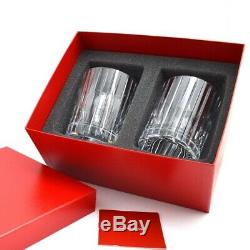 Baccarat Crystal Harmonie Tumbler Number 2 Pair Clear Brand New In Red Gift Box