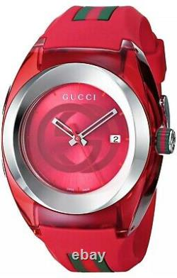 Brand NEW Gucci Sync XXL YA137103 Red Unisex Swiss Watch Authentic