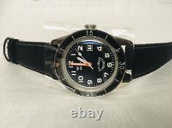 Brand NEW Squale 30 ATMOS Sub-39 Black Arabic Watch DEALER & Warranty