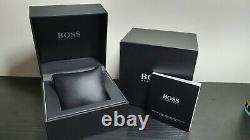Brand New 1513440 Hugo Boss Stainless Steel Mesh Grey Jet Men's Watch Uk Stock