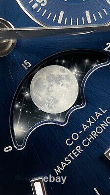 Brand New 2020 Omega Speedmaster Moonphase Blue Sunburst Stainless steel 44mm