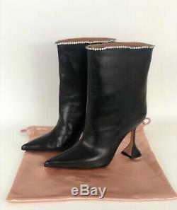 Brand New Amina Muaddi Mia Crystal Embellished Boots Size Eu39