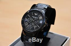 Brand New Armani Mens Ceramic Chronograph Watch Ar1451 Gents Black Dial Rrp £499