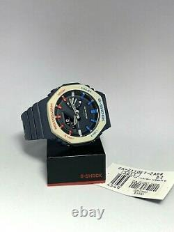 Brand New Authentic Casio G-shock Watch Ga-2110et-2a Casioak Pepsi Color Ga2100