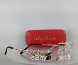 Brand New Authentic Caviar Eyeglasses M 1673 C21 53mm Austrian Crystals Frame
