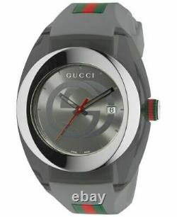Brand New Authentic Gucci Sync XXL YA137109 Gray Band Gray Dial Unisex Watch