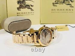 Brand New BURBERRY BU9039 The City Rose Gold-Plated Stainless Steel 38mm Watch