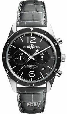 Brand New Bell & Ross Vintage Sport Men's Watch BR-126-SPORT-STEEL-B-A-046