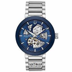 Brand New Bulova Modern Automatic Blue Dial Men's Watch 96A204