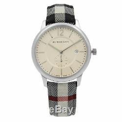 Brand New Burberry BU10002 The Classic Horse Ferry Stainless Steel Men's Watch