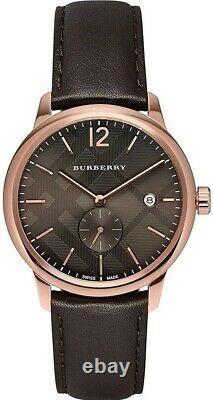 Brand New Burberry BU10012 The Classic Round 40 mm Men's Watch