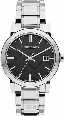 Brand New Burberry BU9001 Stainless Steel With Black Dial 38 mm Watch