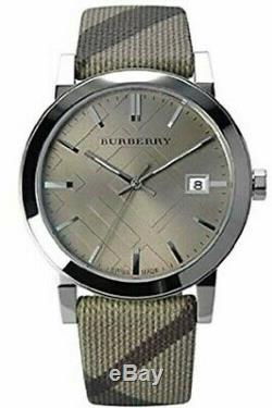 Brand New Burberry BU9023 Silver Dial Check Stainless Steel Women's Swiss Watch