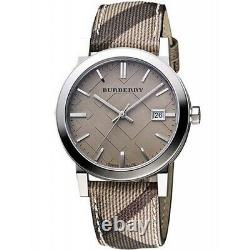 Brand New Burberry BU9118 Haymarket City Stainless Steel Women's Watch