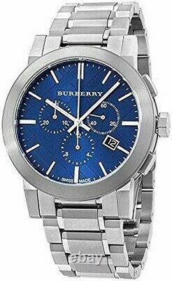 Brand New Burberry BU9363 Stainless Steel Blue Checker Dial Men's Watch