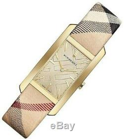 Brand New Burberry BU9407 Heritage Nova Check Strap Stainless Steel Womens Watch