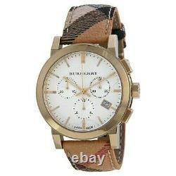 Brand New Burberry BU9752 City 38 mm Gold Tone Chronograph Unisex Watch
